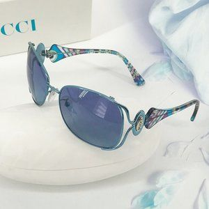 NEW🌸EMILIO PUCCI Blue & Purple Aviator Sunglasses